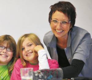 Tanja Hartmann im Konzentrationstraining